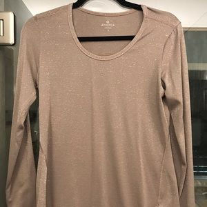 NWOT Athleta top light brown with shimmer